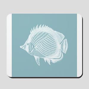 Pastel Blue Exotic Fish Mousepad