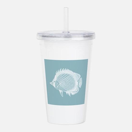 Pastel Blue Exotic Fish Acrylic Double-wall Tumble