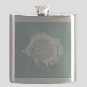 Pastel Blue Exotic Fish Flask