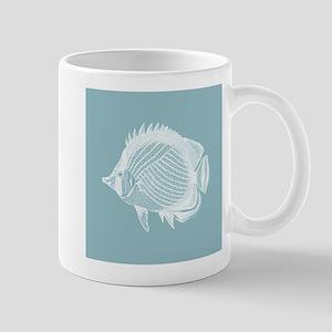 Pastel Blue Exotic Fish Mugs