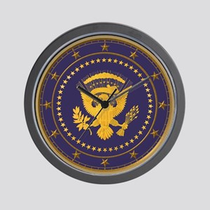 Gold Presidential Seal, VIP, The White Wall Clock