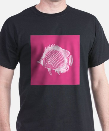 Hot Pink Exotic Fish T-Shirt