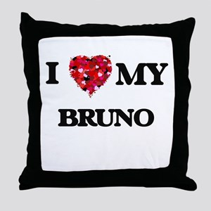 I love my Bruno Throw Pillow