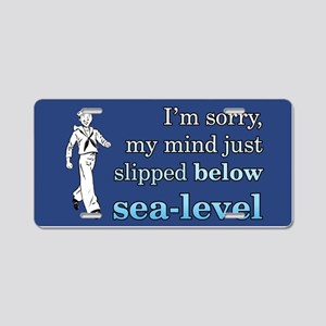 BELOW SEA LEVEL Aluminum License Plate