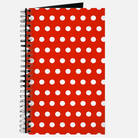 Red and White Polka Dots Journal