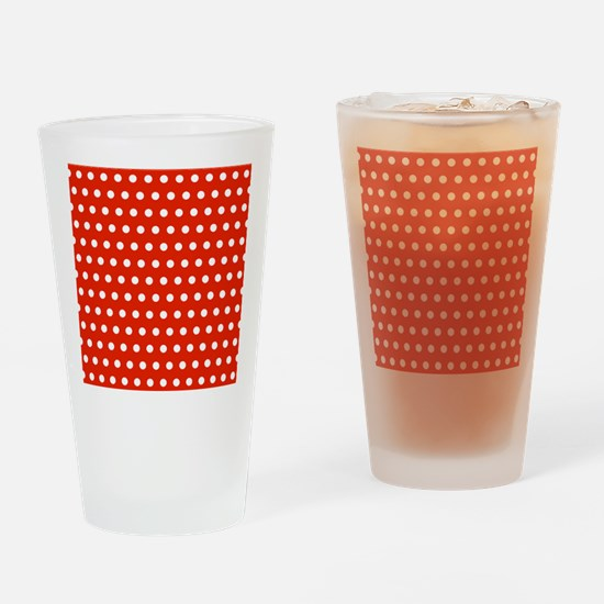 Red and White Polka Dots Drinking Glass