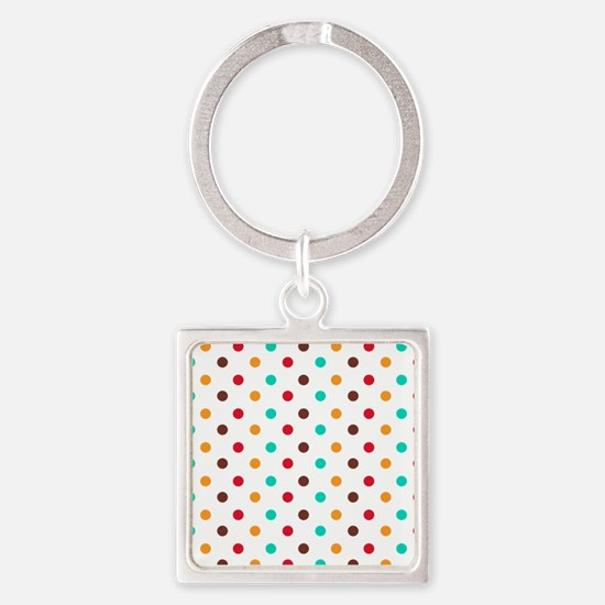Multi Color Polka Dots Keychains