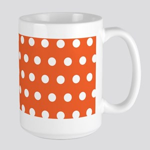 Orange And White Polka Dots Mugs