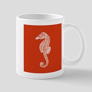 Red Seahorse Mugs
