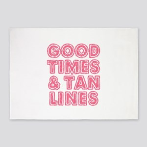 Good Times and Tan Lines 5'x7'Area Rug