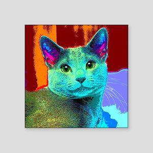 "Pop Cat Art Square Sticker 3"" x 3"""