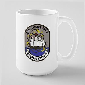 Uss Detroit Aoe-4 Mugs