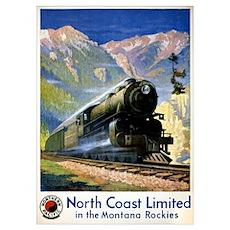 North Coast Limited Vintage Travel Poster Restored Poster