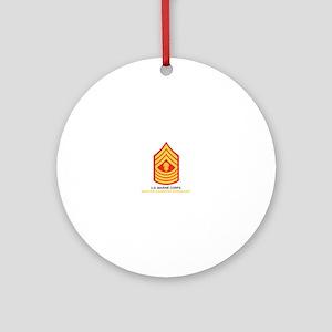 Master Gunnery Sergeant Ornament (Round)