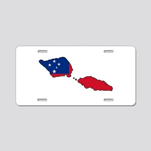 Samoa Map Decal black stroke Aluminum License Plat