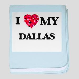 I love my Dallas baby blanket