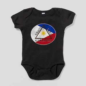 escrima decal white stroke Baby Bodysuit