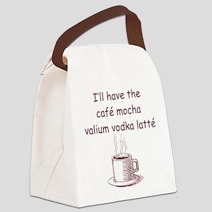 CAFE MOCHA Canvas Lunch Bag