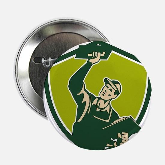 """Plasterer Mason Worker Trowel Shield Retro 2.25"""" B"""