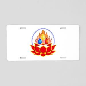 the three jewels Aluminum License Plate