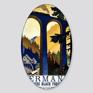 Germany In the Black Forest Vintage Sticker (Oval)