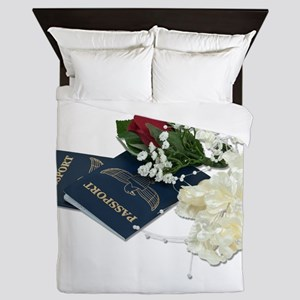 NewlywedsTraveling101610 Queen Duvet