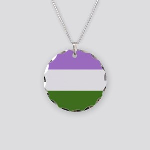 Genderqueer Pride Flag Necklace