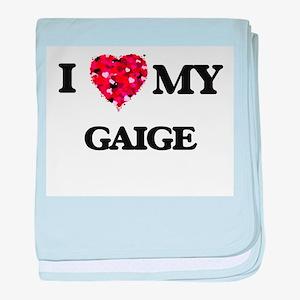 I love my Gaige baby blanket
