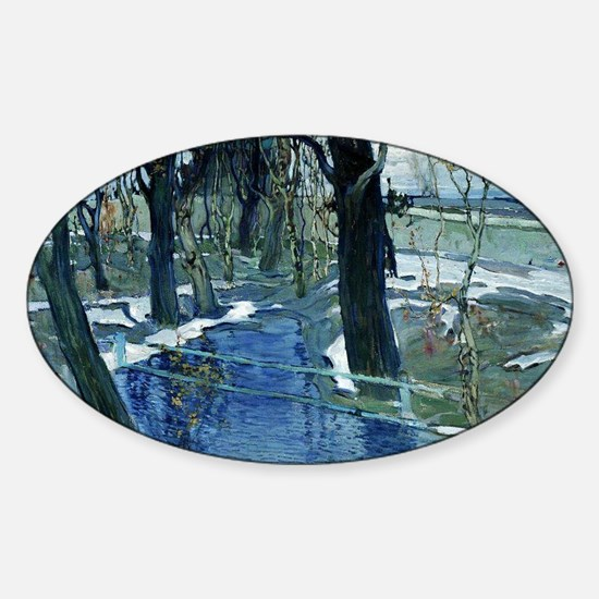 Isaak Brodsky painting, Early Sprin Sticker (Oval)
