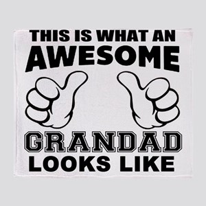 this is what an awesome grandad look Throw Blanket