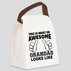 this is what an awesome grandad l Canvas Lunch Bag