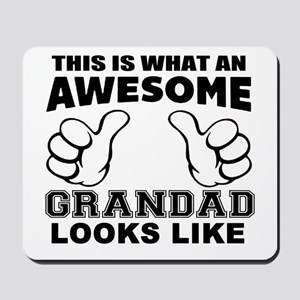 this is what an awesome grandad looks li Mousepad