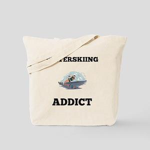 Waterskiing Addict Tote Bag