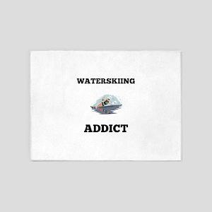 Waterskiing Addict 5'x7'Area Rug