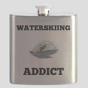 Waterskiing Addict Flask