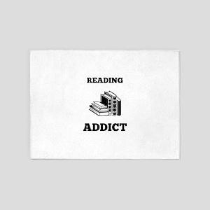 Reading Addict 5'x7'Area Rug
