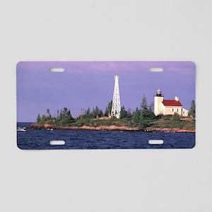Copper Harbor Lighthouse Aluminum License Plate