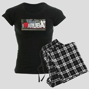 I love Aruba Women's Dark Pajamas