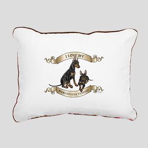 I Love My Manchester Rectangular Canvas Pillow