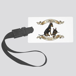 I Love My Manchester Terrier Large Luggage Tag