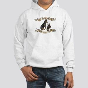 I Love My Manchester Terrier Hoodie
