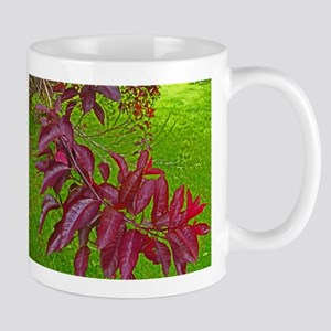 Cherry Branch Abstract Mugs