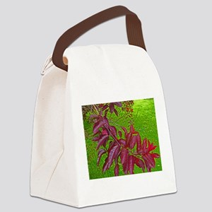 Cherry Branch Abstract Canvas Lunch Bag