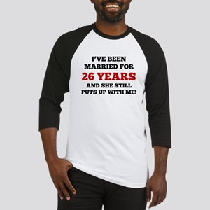 Ive Been Married For 26 Years Baseball Jersey