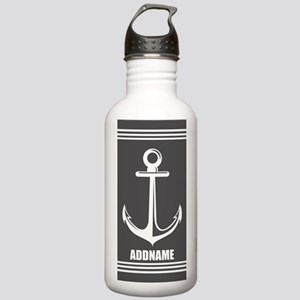 Dark Gray Anchor Perso Stainless Water Bottle 1.0L