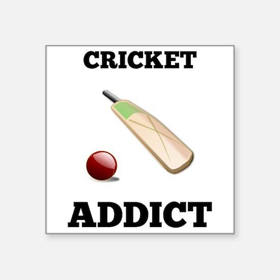 Cricket Addict Sticker