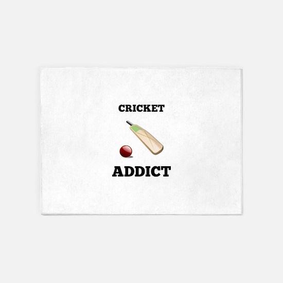 Cricket Addict 5'x7'Area Rug