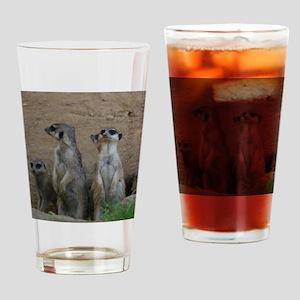 Meerkat Family Drinking Glass
