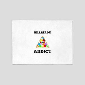 Billiards Addict 5'x7'Area Rug