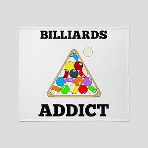 Billiards Addict Throw Blanket